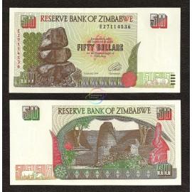 Zimbabwe 50 Dollars, 1994, P-8, UNC