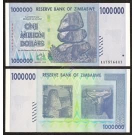 Zimbabwe 1,000,000 Dollars, 2008, P-77, UNC