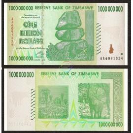 Zimbabwe 1 Billion Dollars, 2008, P-83, UNC