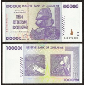 Zimbabwe 10 Billion Dollars, 2008, P-85, UNC