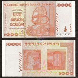 Zimbabwe 50 Billion Dollars, 2008, P-87, UNC