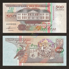 Suriname 500 Gulden, 1991, P-140, UNC