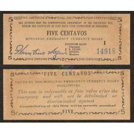 Philippines 5 Centavos, 1943, P-S481b, AU-UNC