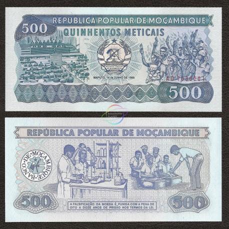 Mozambique 500 Meticais, 1986, P-131b, UNC