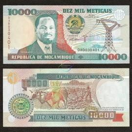 Mozambique 10,000 Meticais, 1991, P-137, UNC