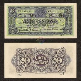 Mozambique 20 Centavos, 1933, P-R29, UNC