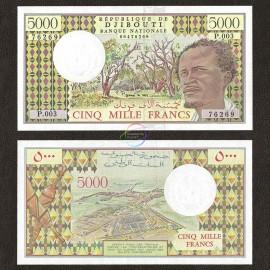 Djibouti 5000 Francs, 1979, P-38d, UNC