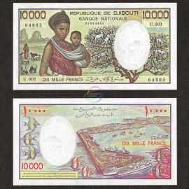 Djibouti 10,000 Francs, 1984, P-39b, UNC
