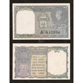 India 1 Rupee, 1940, P-25a, UNC
