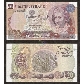 Northern Ireland 20 Pounds, 2007, P-137b, UNC