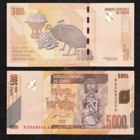 Congo D.R. 5,000 Francs, 2005, P-102, UNC