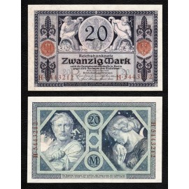 Germany 20 Mark, 1915, P-63, UNC