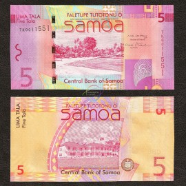 Samoa 5 Tala, 2008, P-38, UNC