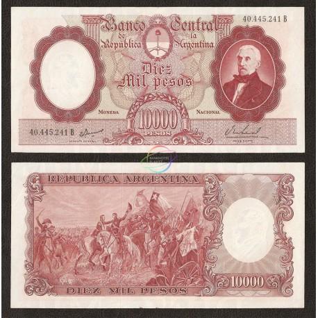 Argentina 10,000 Pesos, 1961-69, P-281b, XF-AU