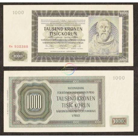 Bohemia & Moravia 1000 Korun, 1942, P-15, UNC