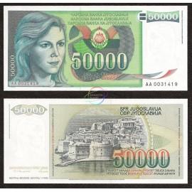 Yugoslavia 50,000 Dinara, 1988, P-96, UNC