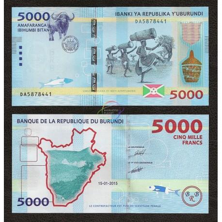 Burundi 5000 Franc, 2015, P-53, UNC