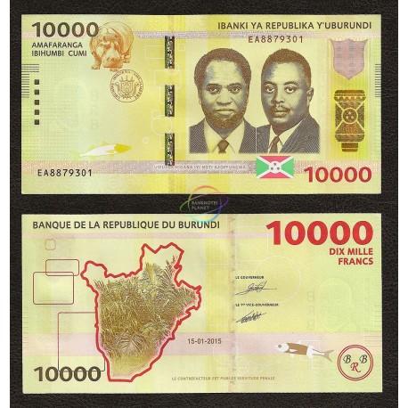 Burundi 10000 Francs, 2015, P-54, UNC