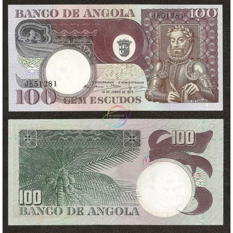 Angola 100 Escudos, 1973, P-106, UNC