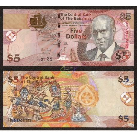 Bahamas 3 Dollars, 2007, P-72, UNC
