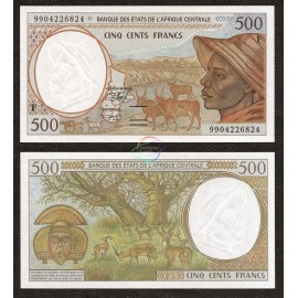 Central African States, Central African Republic 500 Francs, 1999, P-301Ff, UNC
