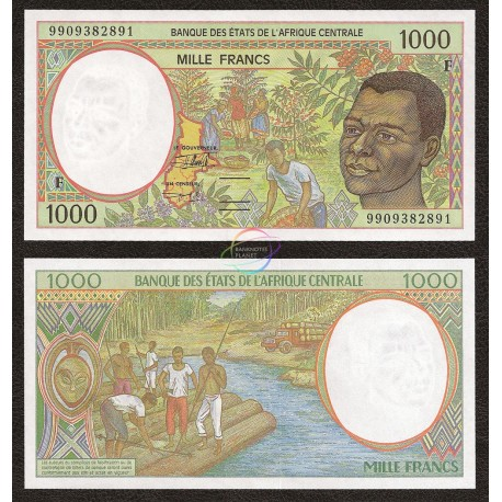 Central African States, Central African Republic 1,000 Francs, 1999, P-302Ff, UNC