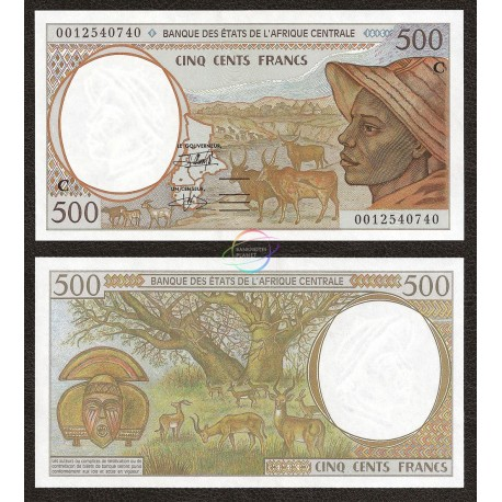 Central African States, Congo 500 Francs, 2000, P-101Cg, UNC