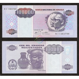 Angola 100,000 Kwanzas, 1995, P-139, UNC