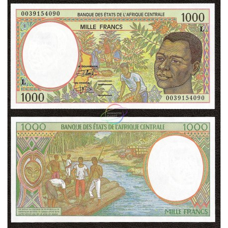 Central African States, Gabon 1000 Francs, 2000, P-402Lg, UNC