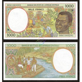 Central African States, Equatorial Guinea 1000 Francs, 2000, P-502Ng, UNC