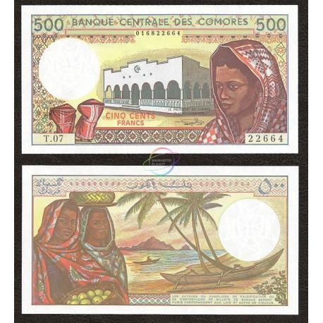 Comoros 500 Francs, 1994, P-10b, UNC