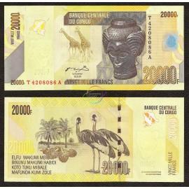 Congo D.R. 20,000 Francs, 2006, P-104, UNC