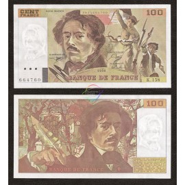 France 100 Francs, 1990, P-154e, UNC