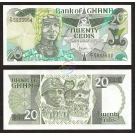 Ghana 20 Cedis, 1986, P-24, UNC