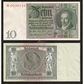 Germany 10 Reichsmark, 1929, P-180b, AU