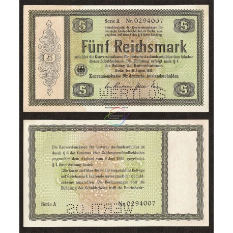 Germany 5 Reichsmark, 1933, P-199, AUNC
