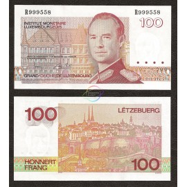 Luxembourg 100 Francs, 1986, P-58b, UNC
