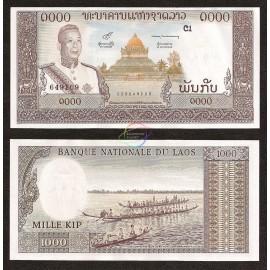 Laos 1,000 Kip, 1963, P-14b, UNC