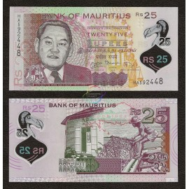 Mauritius 25 Rupees, 2013, P-64, Polymer, UNC