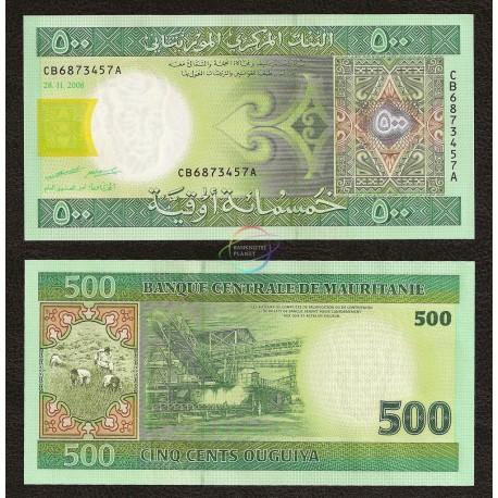 Mauritania 500 Ouguiya, 2006, P-12b, UNC