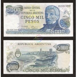 Argentina 5,000 Pesos, 1977-83, P-305, UNC