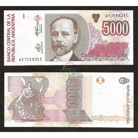Argentina 5,000 Australes, 1989-91, P-330e, UNC