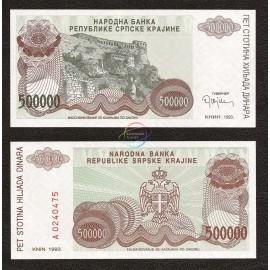 Croatia 500,000 Dinara, 1993, P-R23, UNC