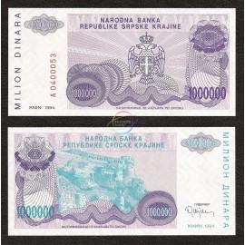Croatia 1,000,000 Dinara, 1993, P-R33, UNC