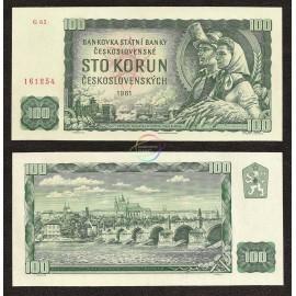 Czechoslovakia 100 Korun, 1961, P-91c, UNC