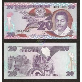 Tanzania 20 Shillings, 1987, P-15, UNC