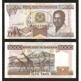 Tanzania 5,000 Shillings, 1995, P-28, UNC