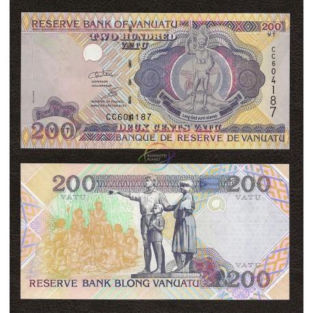 Vanuatu 200 Vatu, 1995, P-8, UNC