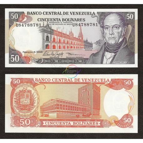 Venezuela 50 Bolivares, 1998, P-65f, UNC