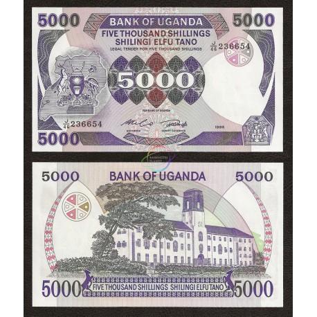 Uganda 5000 Shillings, 1986, P-24b, UNC